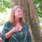 Cindy S. in the Rudraksha Forest